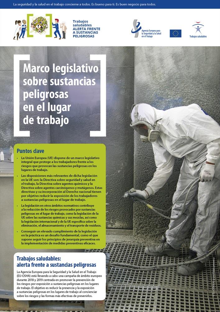 Marco legislativo sobre sustancias peligrosas en el lugar de trabajo