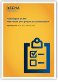 Final report on the first forum pilot project on authorisation